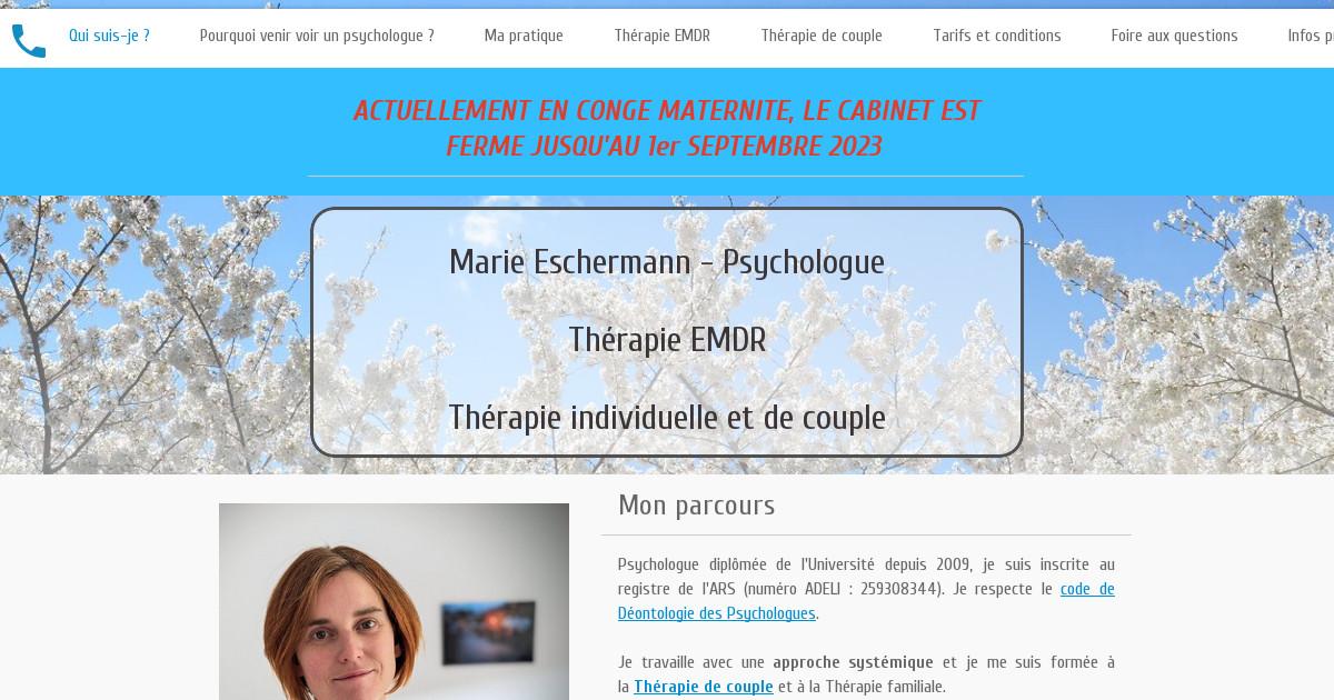 Marie Eschermann - Psychologue Pontarlier & Thérapeute familiale